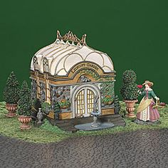 "Department 56: Products - ""Lilycott Garden Conservatory"" - View Lighted Buildings"