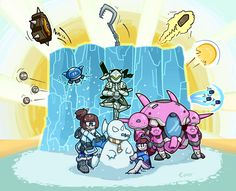 Overwatch - Mei, Genji, and D.Va by CoverHyphen Overwatch Comic, Overwatch Memes, Overwatch Fan Art, Overwatch Drawings, There Goes My Hero, First Video Game, Manga, Best Games, Funny Comics