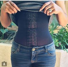 Black latex waist trainers & cinchers for waist training, waist trimming and slimming. Effective when used when exercising and alongside a healthy diet. Gives an instant hourglass figure/slim waist...pulls the stomach in and pinches the waist/waistline. Pinned by waistandlips.com.