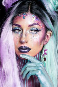 """36 Fairy Unicorn Makeup Ideas For Parties Incredible Unicorn Makeup picture6 See more: """"… - http://makeupaccesory.com/36-fairy-unicorn-makeup-ideas-for-parties-incredible-unicorn-makeup-picture6-see-more/ #fairymakeup"""