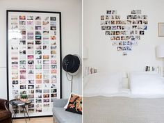 DIY home-photo wall Diy Para A Casa, Diy Casa, Photo Decoration Ideas, Decor Ideas, Polaroid Wall, Polaroids, Polaroid Ideas, Instagram Wall, Deco Design