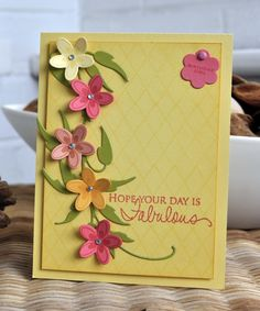Inky Fingers: Papertrey Ink birthday card