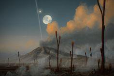 Volcanic evening by JustV23.deviantart.com on @DeviantArt