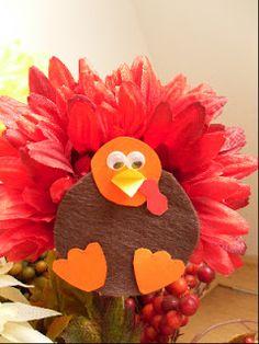 Thanksgiving Crafts for Kids - Flower Turkey