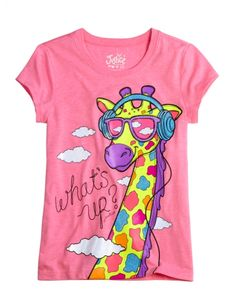 Music Giraffe Graphic Tee | Girls Graphic Tees Clothes | Shop Justice
