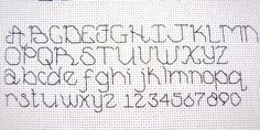 "cross stitch alphabet and numbers ""Complete Back Stitch Alphabet"""