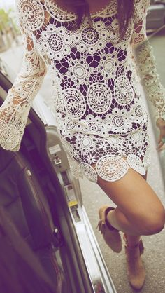 lace dress + booties