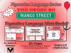 House on Mango Street Figurative Language Mini Books--25+ Pages of Common Core Materials!
