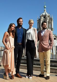 Henry Cavill, Armie Hammer, Alicia Vikander and other The Man From U.N.C.L.E. cast and crew members attend the photocall at Civita in Rome, Italy, on May 9, 2015.