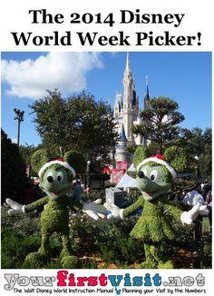 The 2015 Walt Disney World Week Picker Disney World 2015, Disney 2015, Disney World Planning, Walt Disney World Vacations, Disney Cruise, Disney Parks, Disney Travel, Disney Land, Disney World Tips And Tricks