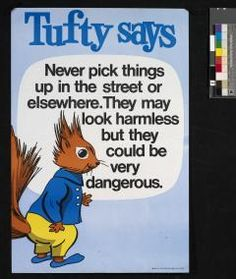 Tufty the Squirrel, Road Safety Campaign, 1970s