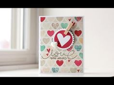 Video tutorial on how to make a cute Valentine  paper is love | A Craft Blog by Kalyn Kepner