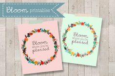 Agape Gift Idea - cute to attach to seed packets Bloom Where You're Planted Printable - livelaughrowe.com