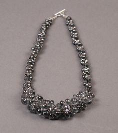 Crystal Quartz Kumihimo Necklace - Rhinestone Chain Necklace - Kumihimo With Chain by NoGlitzNoGlory on Etsy https://www.etsy.com/listing/163841836/crystal-quartz-kumihimo-necklace