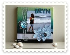 #Canvas Corp mini canvas, new #Tattered Angels Simple Sheer, @Spellbinders and #Want@Scrap by @Holly Simoni