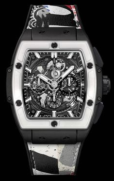 a398dc50a65 Hublot Hush Spirit of Big Bang West Coast Ceramic Black and White Reloj