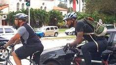 Love this.  Superstar athlete rides his bike to the game.