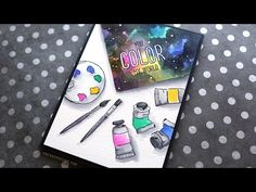 Painting a Watercolor Galaxy (Rainbow Challenge Tag) – kwernerdesign blog