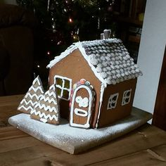 I always crave ginger-bread at Christmas! This cute little house was super easy (and fun!) to put together - I can't wait for next Christmas to try it again.