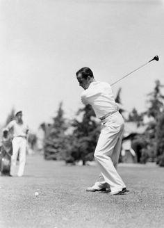 Humphrey Bogart golfing circa 1949