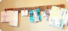 simple way to hang art!