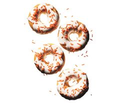 Pumpkin Doughnuts With Sour Cream Icing.  Make it bread: lightly oiled 8 1/2  by 4 1/2 loaf pan in 350 oven  55-60 minutes. Cool in pan 15 minutes. Transfer to wire rack to cool fully before icing.