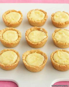 "Easy to make and charming in appearance, these tiny tarts are an ideal dinner-party dessert. The name is derived from the Scottish word for a ""small cup."""