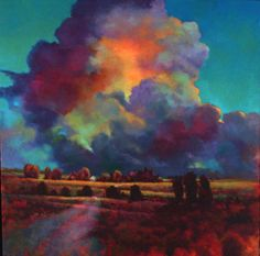 Evening Cloudburst, Donna Young I love the colours in this cloud and the light and shadows that it casts-fab!