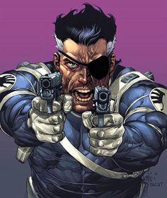 Nick Fury by Lenil Yu