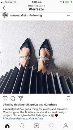 Concrete Floors, Terrazzo, Ballet Flats, Zara, Shoes, Design, Fashion, Moda, Ballet Shoes