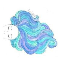 hair, overlay, and blue image