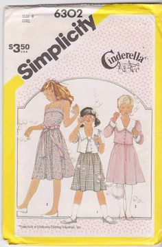 1980s vintage sewing pattern for girls fitted by beththebooklady, $5.99