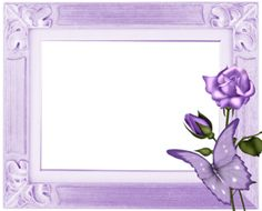 """Photo from album """"Elements on Yandex. Page Borders Design, Border Design, Lilac Flowers, Purple Roses, Picture Cards, Picture Frames, Lilac Background, Free Printable Stationery, Boarders And Frames"""