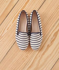 Navy Stripes, Brogues, Loafers, Hemp, Women's Shoes, Woman Shoes, Moccasins, Ladies Shoes, Boat Shoes
