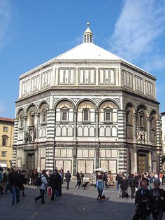 The Florence Baptistry or Battistero di San Giovanni (Baptistry of St. John) is a religious building in Florence (Tuscany), Italy, which has the status of a minor basilica.