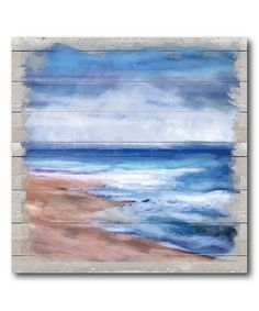 Look at this Beach High Tide Gallery-Wrapped Canvas on #zulily today!