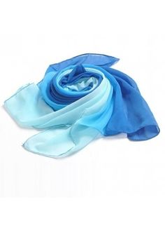 Light Scarves, Air Conditioning System, Ombre Color, Chiffon Scarf, Sammy Dress, Womens Scarves, What To Wear, Girly, Blue And White