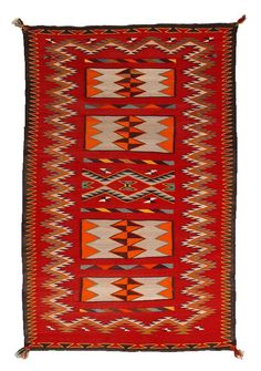 Double Saddle Blanket : Historic Navajo Weaving : GHT 799
