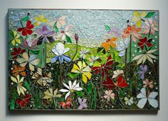 MOSAIC WALL ART stained glass wall decor floral by ParadiseMosaics