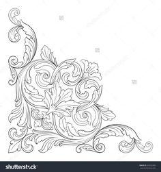 Vintage Baroque Ornament. Retro Pattern Antique Style Acanthus. Decorative…