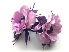 Crepe Paper Flowers, Felt Flowers, Cloth Flowers, Fabric Flowers, Flower Crafts, Flower Art, Flower Video, Polymer Clay Flowers, Ribbon Art