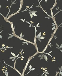 Add style to any room with this charcoal, branch inspired wallpaper from the Senzai Wallpaper Collection. Available at Go Wallpaper UK Oriental Wallpaper, Wallpaper Uk, Charcoal Wallpaper, Trail, Pattern, Crafts, Painting, Inspiration, Design