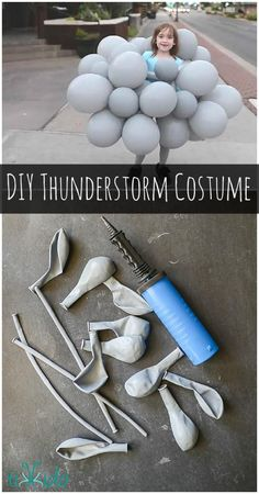 How to make a thunderstorm cloud costume, complete with lightning and rain…