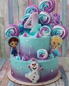 Baby shower ideas for girs food cupcake cakes pink 35 Super ideas Frozen Themed Birthday Party, Disney Frozen Birthday, Themed Birthday Cakes, Birthday Cake Girls, Themed Cakes, 5th Birthday, Castle Birthday Cakes, Turtle Birthday, Turtle Party