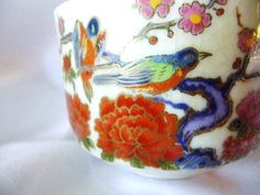 Vintage Tea Cup with Bullfinch Birds Japanese by TheRiCharmedLife, $8.00