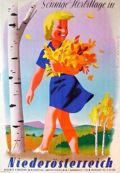 Sonnige Herbsttage in Niederösterreich. Atelier der Kreis. 1953