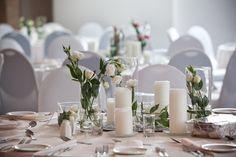 All white table decor