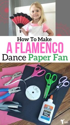 Learn how to make this fun Flamenco Dance paper fan and learn of the culture of Spain. Well Educated Heart month 2 activity Summer Camp Crafts, Camping Crafts, Art Activities For Kids, Preschool Activities, Projects For Kids, Crafts For Kids, Dance Crafts, Cultural Crafts, Holiday Club