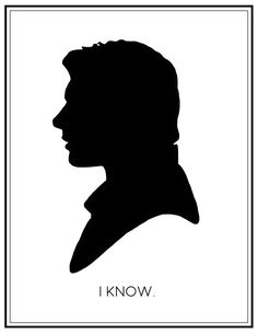 I love you. I know. Star Wars print by KirstenJudkinsDesign