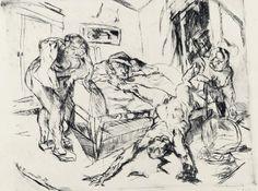 Die Nacht, 1916, pl. publiée en 1918 dans Shakespeare-Visionen, pointe sèche, 22,4 x 27,5 cm.